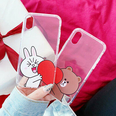 TPU Bear Brown Bunny Cony Phone Case Cover For iPhone X XS Max XR 6 7 8 Plus New