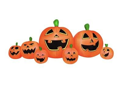 Way To Celebrate! 8.5 ft Long Airblown Halloween Inflatable Pumpkin Patch New