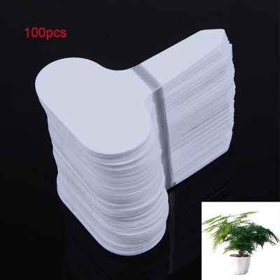 100 Yard White Nursery Flower Gardening Label Plastic Plant Tag T-type Marker