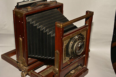 Gundlach 5X7 Criterion View Camera With Lens And One Cut Film Holder