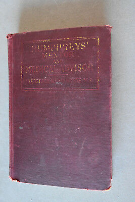 Vintage Frederick Humphrey's Medical Advisor Hardback Book, c 1926