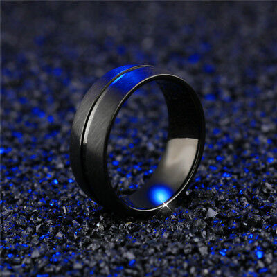 Fashion Band Ring Men&Women Stainless Steel Titanium Bridal Engagement Size 6-13