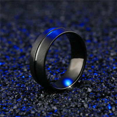 Men&Women Stainless Steel Titanium Band Ring Fashion Bridal Engagement Size 6-13