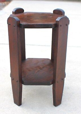 Vintage Mission Arts and Crafts side table Stickley Roycroft Era circa 1910/20's