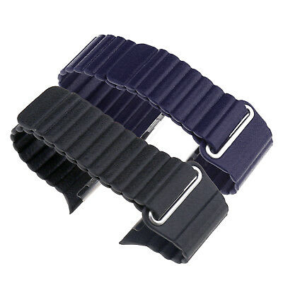 Magnetic Leather Watch Band Strap Loop 42 44mm For Apple Watch Series 1 2 3 4