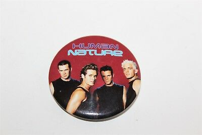 Vintage Human Nature Badge Music Collectable