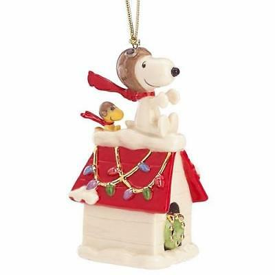 Lenox ~ Peanuts Snoopy The Flying Ace Ornament ~ 2017 Red Baron Pilot ~ NIB