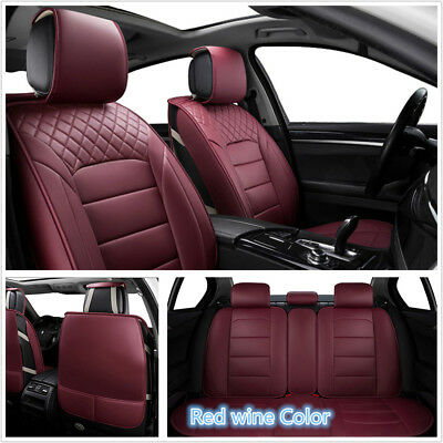 High Quality Red Wine Seat Cover Protector For Full Car Front+Rear Universal