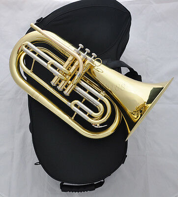 Professional JINBAO Gold lacquer Bb Marching Baritone Horn Cupronickel tuning