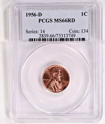 1956-D  Lincoln Cent PCGS MS 66RD