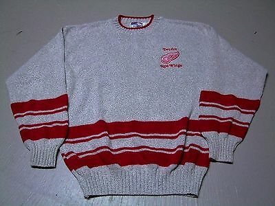NHL Headline Sports Detroit Red Wings embroidered hockey cotton sweater sz Large