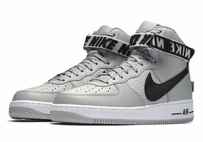 NEW Nike Men's Air Force 1 High 07 NBA Pack Shoe 488298 090 Size 9 Flat Silver