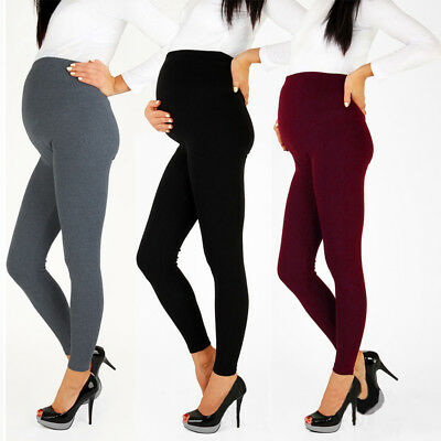 Pregnant Women Warm Pregnancy Leggings Support Belly Pants Maternity Trousers UK
