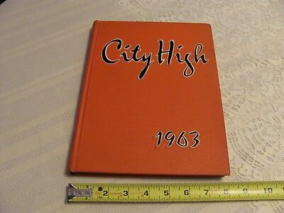 1963 Iowa City High School Yearbook City High Little Hawks Red & White Pictures