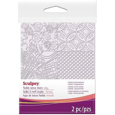 Sculpey - Texture Sheets - 2 Sheets/ 7 Textures - Edgy