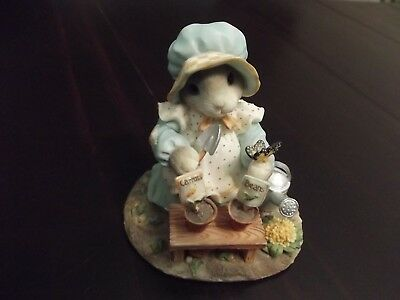 """1996 Enesco My Blushing Bunnies """"Love Grows Whenever You Are Near"""" used no box"""
