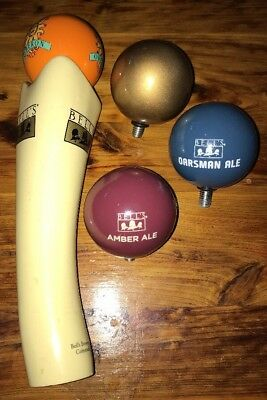 Bell's Brewery Michigan Tap Handle With 3 Extra Toppers Oberon Bar Man Cave Pub