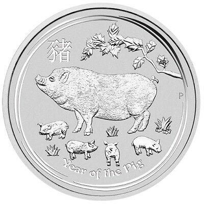 2019 Year of the Pig 1oz .9999 Silver Bullion Coin - Lunar Series II - PM