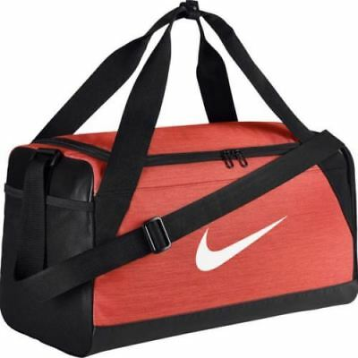 NEW Nike Brasilia XS Gym Travel Duffel Bag Training Orange Black BA5432-891 cbf6101b65ab2