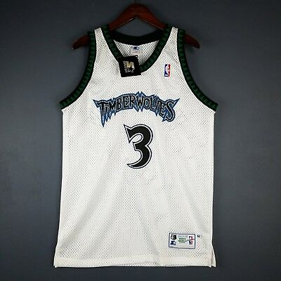 100% Authentic Stephon Marbury Vintage Starter Wolves Jersey Size 44 L Mens cef5d6ddd
