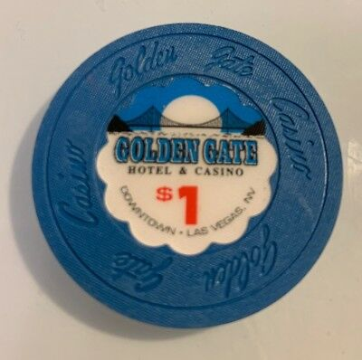 Golden Gate $1 Casino Chip Las Vegas Nevada 2.99 Shipping