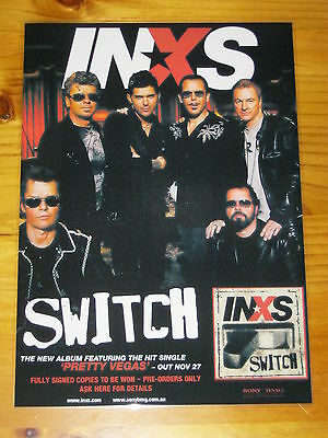 INXS - SWITCH - Laminated Promotional Poster
