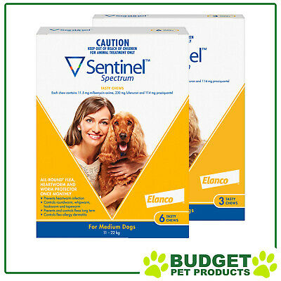 Sentinel Spectrum For Dogs 11-22kg Yellow 9 Pack