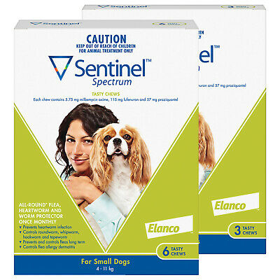 Sentinel Spectrum For Dogs 4-11kg Green 9 Pack