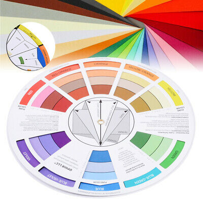 16cm Paint Color Wheel Mixing Guide for Tattoo Makeup Hobby Painting Supply