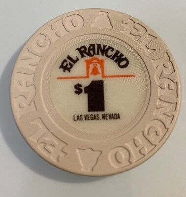 El Rancho $1 Casino Chip Las Vegas Nevada 2.99 Shipping