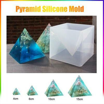 15cm Large Pyramid Silicone Mold For Resin Jewelry Crafts Making Mould Tool AU