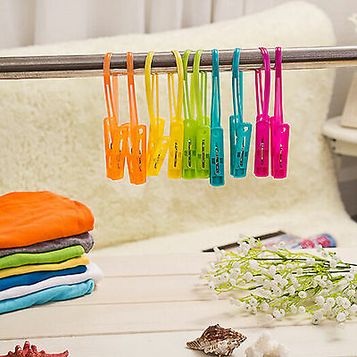 12 Pcs Clothes Clip Plastic Socks Drying Hangers Towels Clamp Wind-proof  Nice