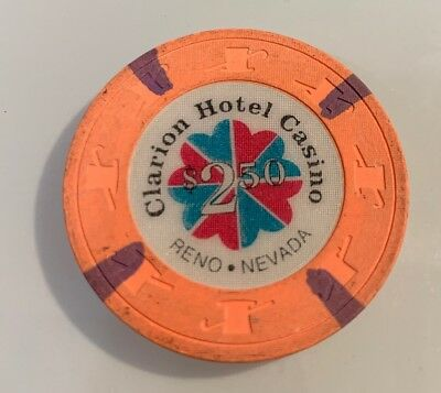 Clarion Hotel $2.50 Casino Chip Reno Nevada 2.99 Shipping
