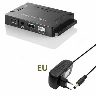 """USB 3.0 to 2.5"""" 3.5"""" HDD SATA IDE Adapter Converter Con Power Cable"""