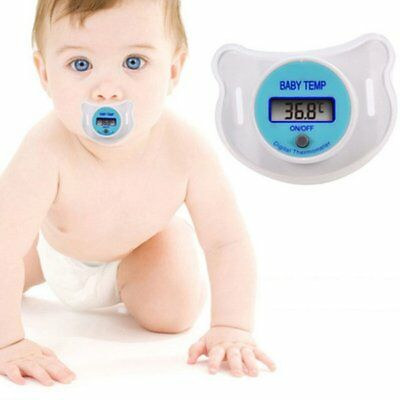 LCD Digital Pacifier Nipple Thermometer Newborn Baby Kids Mouth Temp Safety New