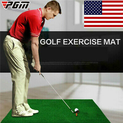 Indoor Golf Practice Grass Mat Backyard Training Hitting Pad Golf Mat With Tee