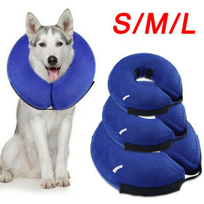 Hot Inflatable Dog Puppy Cat Pet Collar Post Surgery Lampshade Cone Neck Injury