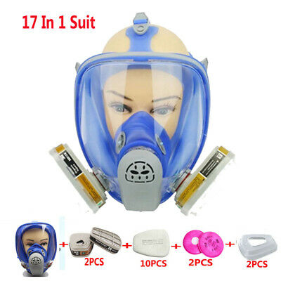 17in1 Painting Spray For 3M6800 Silicone Gas Mask Full Face Facepiece Respirator