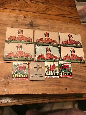 Vintage Advertising International Harvester Ih Match Book Lot Tractor Truck 10