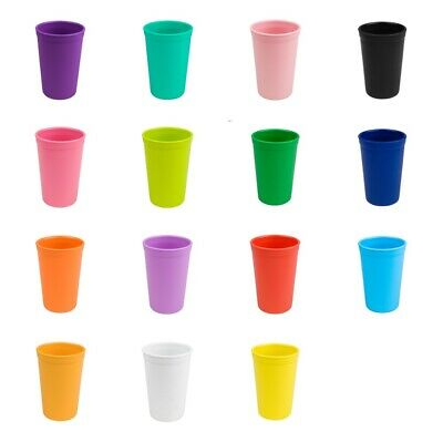 4 x Large Plastic Tumblers Birthday Travel Camping Picnic Tumbler Cups