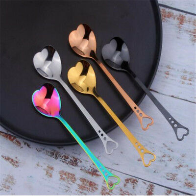 Stainless Steel Latte Tea Coffee Spoon Soda Ice Cream Dessert Sundae Spoons LH