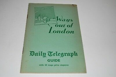 Daily Telegraph Ways Out Of London Guide 1950's