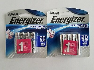 Energizer Aaa Ultimate Lithium Batteries/ Lot Of 16