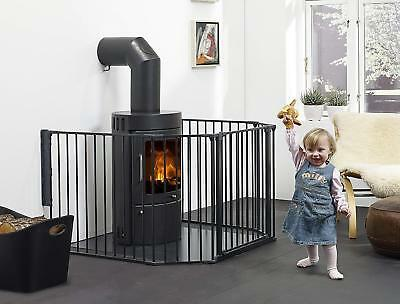 6Pcs Fireplace Fence Baby Safety Pet Dog Cat Play Yard BBQ Metal Health Gate