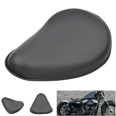 Motorcycle Solo Leather Driver Rider Seat Pad Cushion for Harley Bobber Racer