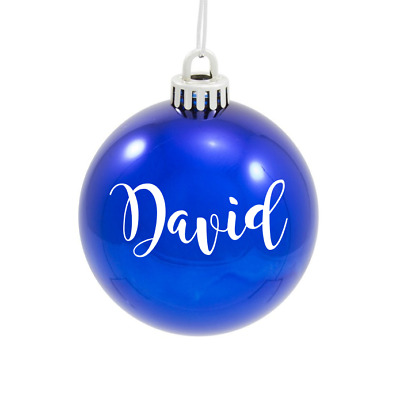 White Or Black Vinyl DIY Personalised Name Christmas Xmas Bauble STICKER ONLY