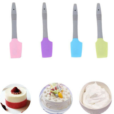 Home Silicone Spatula Non-Scratch Cooking Baking Pastry Scrapper Mixing Spoon N7