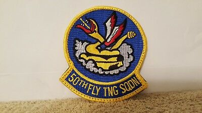 USAF 50th FLYING TRAINING SQUADRON PATCH 4 x 3 1/2 inches