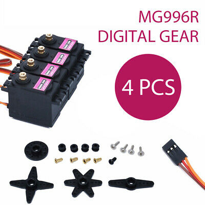 4PCS MG996R Metal Gear MG996 Digital Torque Servo For Futaba JR RC Truck Racing
