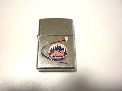 Mlb New York Mets Polished Chrome Zippo Lighter Is Used Code B Xv Made In Usa